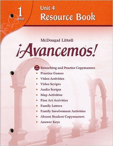Avancemos!: Unit Resource Book 4 Level 1 (Spanish Edition
