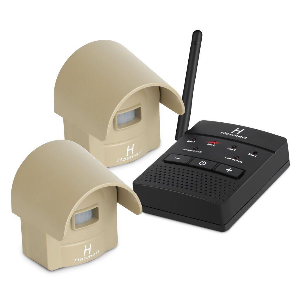 1/4 Mile Long Range Hosmart Rechargable Wireless Driveway Alarm System & Driveway Alert System Outdoor Weatherproof Security Motion Sensor & Detector by Hosmart (Image #1)