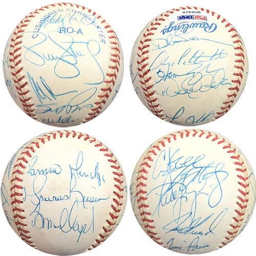 - 1998 Ny Yankees Team Autographed Signed Memorabilia Baseball 18 Auto Derek Jeter Rivera Oneill - PSA/DNA Authentic