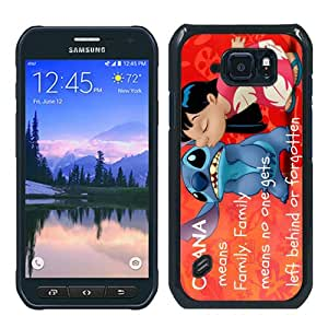 Fashionable S6 Active Case,Lilo and Stitch Black Customized Case For Samsung Galaxy S6 Active Case