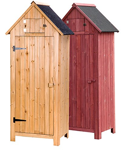 Merax arrow shed with single door wooden garden shed for Garden shed uae
