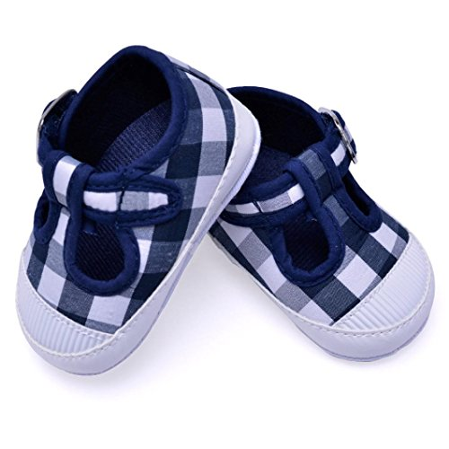 Igemy 1Paar Neugeborene Baby Jungen Mädchen Anti-Rutsch Crib Canvas Schuhe Sneakers Schwarz