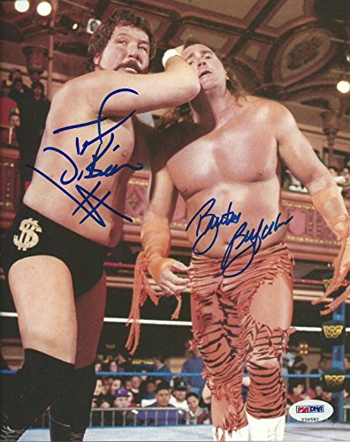 Brutus The Barber Beefcake & Ted DiBiase Signed WWE 8x10 Photo COA Auto - PSA/DNA Certified - Autographed Wrestling Photos ()