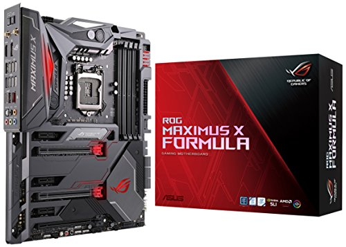 ASUS ROG Maximus X Formula LGA1151 (Intel 8th Gen) DDR4 DP HDMI M.2 Z370 ATX Gaming Motherboard with onboard 802.11AC WiFi and USB 3.1