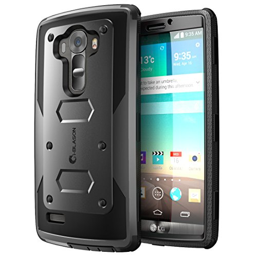 (LG G4 Case, [Heave Duty]Slim Protection i-Blason Armorbox [Dual Layer] Hybrid Full-body Protective Case with Front Cover and Built-in Screen Protector / Impact Resistant Bumpers Cover for LG G4 2015 Release (Black))