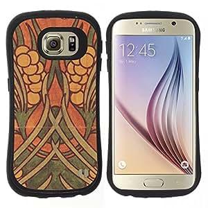"""Hypernova Slim Fit Dual Barniz Protector Caso Case Funda Para Samsung Galaxy S6 [Pared de la pintura Arte Antiguo""""]"""