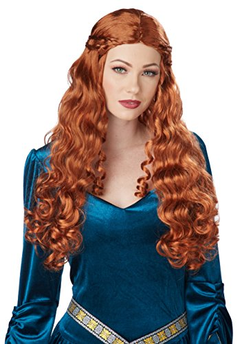 (California Costumes Women's Auburn Lady Guinevere Wig, One)