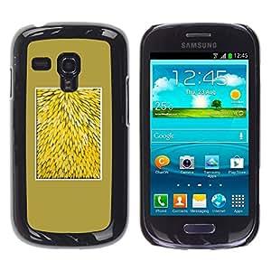 """Pulsar Snap-on Series Teléfono Carcasa Funda Case Caso para Samsung Galaxy S3 MINI ( NOT for regular S3 , Amarillo Naturaleza Floral Flores Patrón"""""""