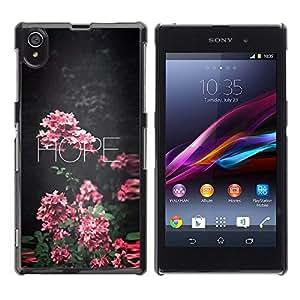 Be Good Phone Accessory // Dura Cáscara cubierta Protectora Caso Carcasa Funda de Protección para Sony Xperia Z1 L39 C6902 C6903 C6906 C6916 C6943 // hope floral school teacher pink