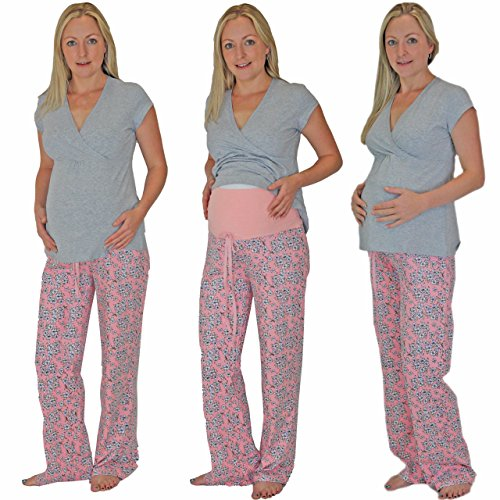 Pink Pixie - Pijama entero - para mujer Pink Bottoms & White Top