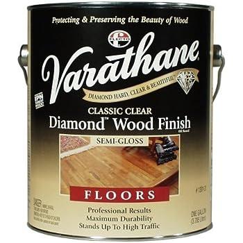 1 Gal Classic Clear Diamond Wood Finish For Floors Semi