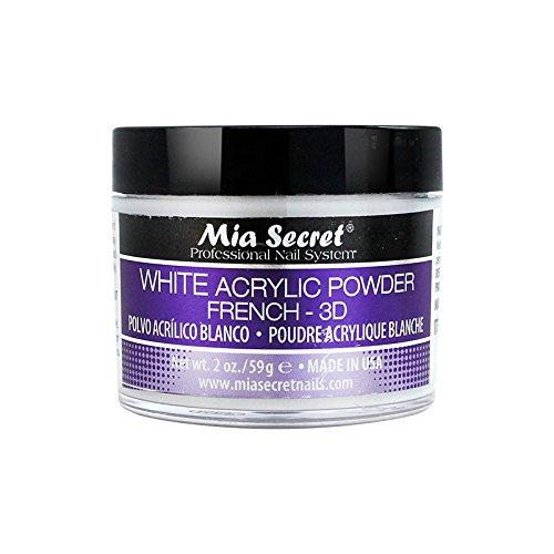 Mia Secret 2 Oz White Acrylic Powder Profession Nail Art System French Manicure