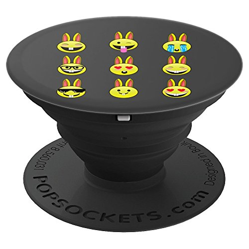 Cool Funny Emoticon Emojis Easter Bunny Artwork Gift - PopSockets Grip and Stand for Phones and Tablets