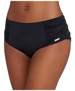 Fantasie Los Cabos FS6156 Deep Gathered Control Bikini Brief Black (BLK) L CS