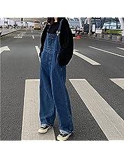 Dames Denim Overalls Klassieke Plus Size Losse Wide Been Jeans Jumpsuit Herfst Rompertjes met zakken #,