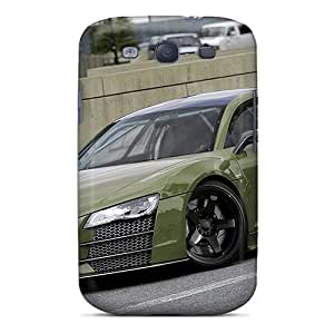 Anti-Scratch Cell-phone Hard Cover For Samsung Galaxy S3 (DEj13189nJht) Unique Design Colorful Audi R8 Series