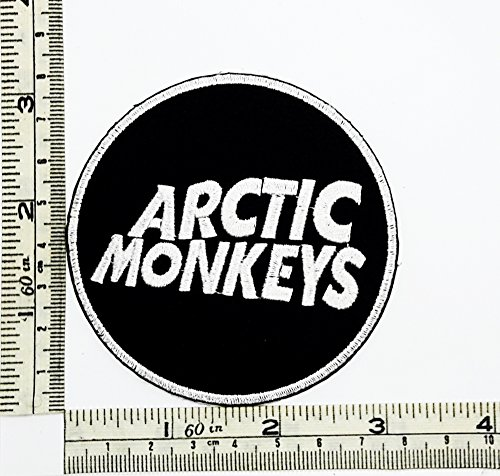 Black Arctic Monkeys Rock Music Band Patch Embroidered Iron on Hat Jacket Hoodie Backpack Ideal for Gift - Iron On Patches Monkey