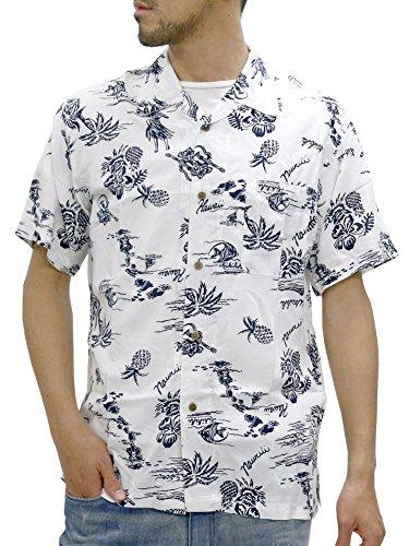 Roushatte Men's Hawaiian Aloha Rayon Shirt (Medium, E:Hula ()