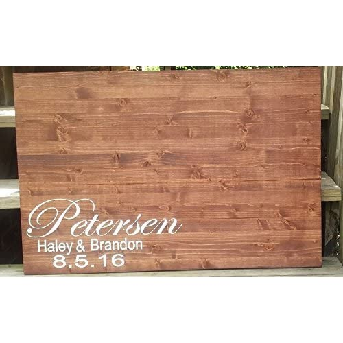 Wood Wedding Guestbook Rustic Wedding Guest Book Alternative Guestbook Alternative Personalized Guestbook Rustic Wedding Sign