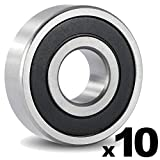 6301-2RS Sealed Ball Bearing - 12x37x12 - Lubricated - Chrome Steel (10 PCS)