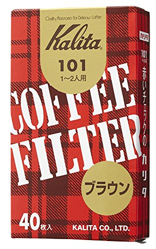 Brown Entered 40 Pieces of Kalita Coffee Filter 101 Filter Paper (Japan Import) ()