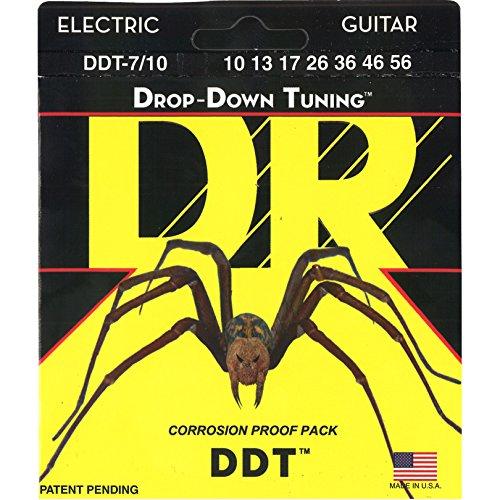 DR Strings Drop Down Tuning Medium 7-String Electric Guitar Strings (10-56) by DR Strings