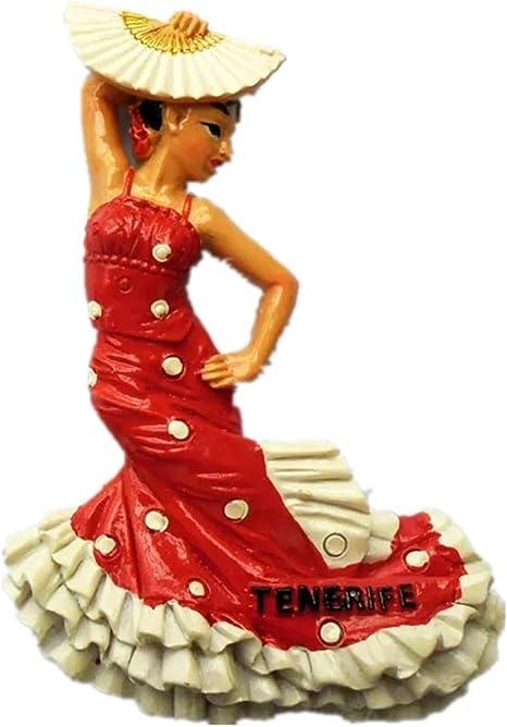 Weekinglo Souvenir Imán de Nevera Baile Flamenco Barcelona España 3D Resina Artesanía Hecha A Mano Turista Viaje Ciudad Recuerdo Colección Carta Refrigerador Etiqueta: Amazon.es: Hogar