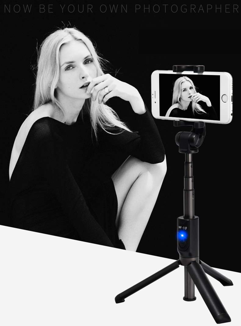 Bluetooth Selfie Stick, Extendable Selfie Stick Tripod with Wireless Remote compatible with iPhone X/iPhone 8/8 Plus/iPhone 7/7 Plus/iPhone 6 Plus, Galaxy S9/S9 Plus/S8/S8 Plus/S7/Note 8, Huawei, More by AiScrofa