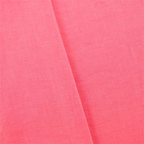 Rose Pink Linen Crosshatch Slub Woven, Fabric By the Yard