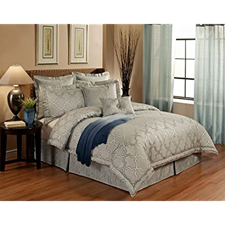 Austin Horn En Vogue 4 Piece Glamour Comforter Set California King Spa Blue