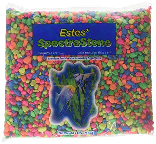 Spectrastone Permaglo Rainbow Aquarium Gravel for Freshwater Aquariums, 2-Pound Bag