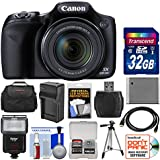 Canon PowerShot SX530 HS Wi-Fi Digital Camera with 32GB Card + Case + Flash + Battery & Charger + Tripod + Kit