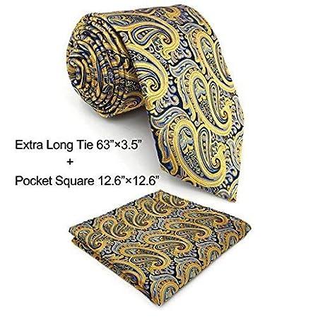 Shlax& Wing Mens Necktie Ties Yellow Blue Paisley Silk New Fashion Wedding U13-H