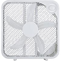 3 Speeds | 20 Box Fan High airflow | 21.10 x 4.57 x 20.67 Inches | FB50-16H (White)