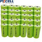 1.2V C 5000mAh NIMH Rechargeable Battery Button Top 30Pcs