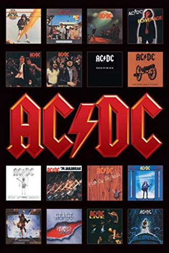 Pyramid International AC/DC Album Covers Collage Music Poster 24x36 inch ()