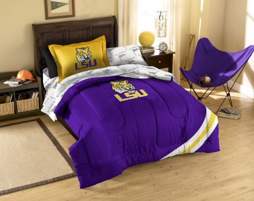 y Officially Licensed NCAA LSU Tigers Twin Bedding Set (Lsu Tigers Sham)