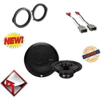 Rockford Fosgate R165X3 Prime 6.5-Inch Full-Range 3-Way Coaxial Speakers W/ HONDA 2008 - 2012 ACCORD CAR STEREO SPEAKER MOUNTING ADAPTER AFTERMARKET W/ WIRE HARNESS