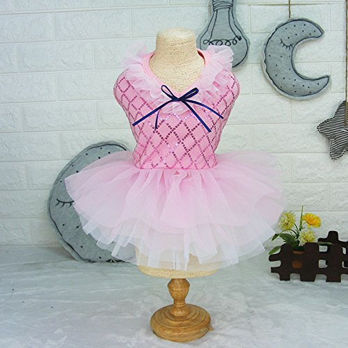 ETbotu Pet Dog Cat Tutu Sequins Dress Clothes Sweet Lace Skirt Puppy Princess Wedding Apparel