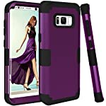 Samsung Galaxy S8 Case, VPR 3 in 1 Hybrid Cover Hard PC Soft Silicone Interior Rubber Scratch Heavy Duty High Impact Shock Absorbing Protective Defender Case for Galaxy S8 2017 15 Only Fit For Samsung Galaxy S8 2017. Reinforced Corner Increase Shock Absorbing when your Galaxy S8 2017 is Dropping on the ground. Rubberized Polycarbonate Armor outer hard case plus Silicone Inner layer cushions and shields your phone from damage. Specifically design Protects the core openings of the phone, including volume controls, power button, and headphone jack.