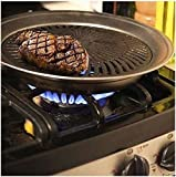 Healthy Indoor Stove top Smokeless BBQ Grill Kitchen Stainless Steel Barbecue by BoostWaves