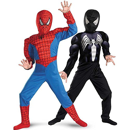 Disguise Marvel Spider-Man Reversible SpiderMan Boys Costume, 7-8