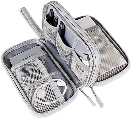 Hard Drive Case,Charger Bag Portable Waterproof Suitable for Electronics Bag,USB Flash Drives Bag,Cable case Bag,USB Case Organizer,USB Charger Bag(Gray)