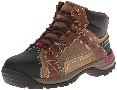 Wolverine Women's Chisel Hiker Safety Toe Hiker,Dark Brown,7 M US