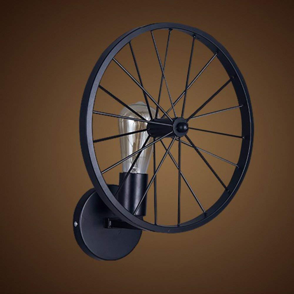 Acquisto MJK Lampada da parete, applique da parete vintage Mitoyo, applique per biciclette industriali, applique in metallo, luci per caffettiera da cucina, e27 nero Prezzi offerta