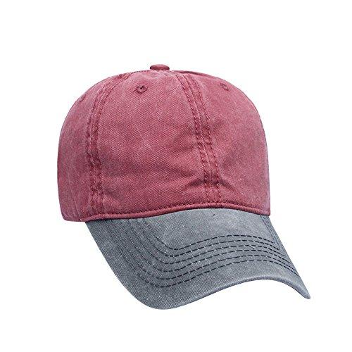 TWGONE Womens Cap Patchwork Twill Cotton Baseball Berets Vintage Adjustable Dad Hat(Free Size,H) -