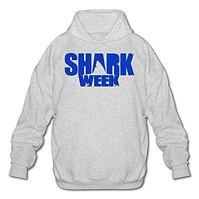XJBD Men's Shark Week Unique Hoodie Ash