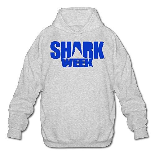 XJBD Men's Shark Week Cool Hoodies Ash Size - Christina Sunglasses Aguilera