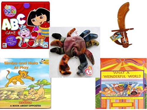 le - Ages 3-5 [5 Piece] - Dora The Explorer: ABC Game - CandyRific Disney Light-up Jake Sword w/ Candy Toy - Ty Teenie Beanie Baby - Claude The Crab - Simba and Nala at Play: A B ()