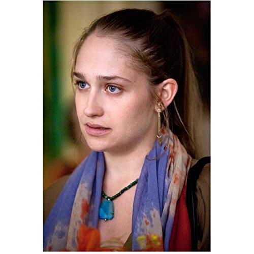 Girls-TV-Series-2012-8-Inch-x10-Inch-Photo-Jemima-Kirke-Head-Shot-High-Ponytail-PurpleOrange-Scarf-kn